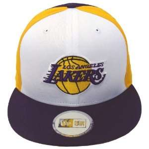 Los Angeles Lakers Retro New Era Tri Snapback Cap Hat