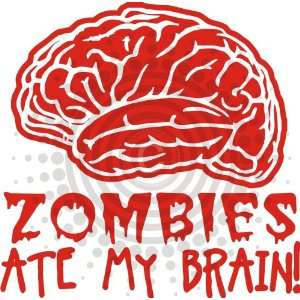 Zombies Ate My Brain Vinyl Decal Everything Else
