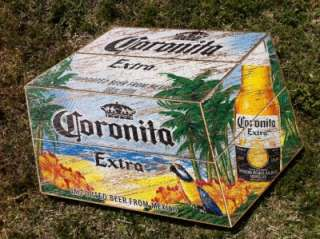 Corona Cerveza Mexico Beer Wood Crate Bar Sign RARE NEW