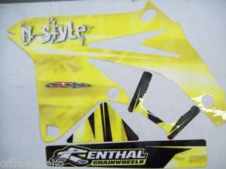 PAINT GRAPHICS DECALS SUZUKI RMZ450 RMZ 450 2008   2010