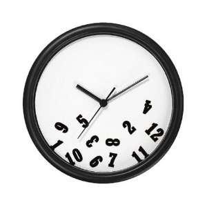 Oops Falling Numbers Fun weird humor Wall Clock by