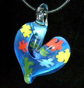 AUTISM AWARENESS puzzle SYMBOL BY CRISANTI GLASS beads