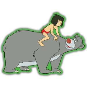 Jungle Book Mowgli Baloo bumper sticker decal 4 x 5