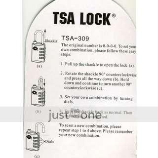TSA 309 Luggage Suitcase Security Lock 4 Digit Padlock