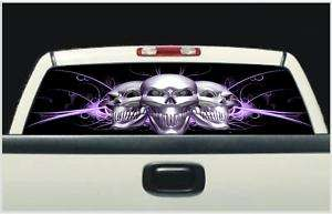 Truck Window Decal Crome Skull Ford,Gmc,Chevy,Dodge