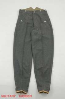gebirgsjägers (mountain troop) stone gray wool trousers W42