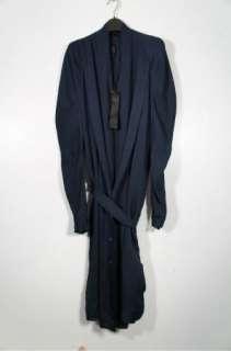 Ilaria Nistri asymmetrical deep blue silk belted dress size 42 Rick