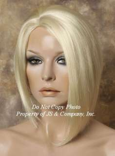 Salon Cut Asymmetrical Posh Short Bob Side skin Wig CHOOSE YOUR COLOR