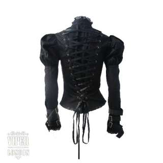 SPIN DOCTOR Steam Punk/Emo/Goth Lace & Zip Jacket 8 16