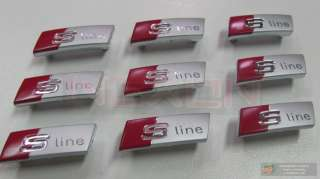 Audi S LINE Steering Wheel Emblem Logo **GENUINE/OEM**