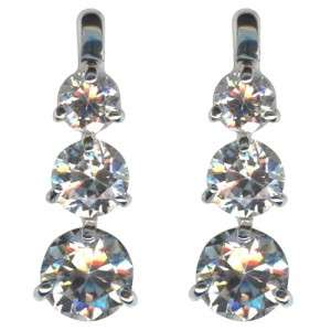 BRAND NEW KIRKS FOLLY THREE WISHES CZ POST EARRINGS ONLY ONE ON