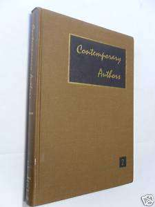Contemporary Authors vol 2 1962 Gale Research Company