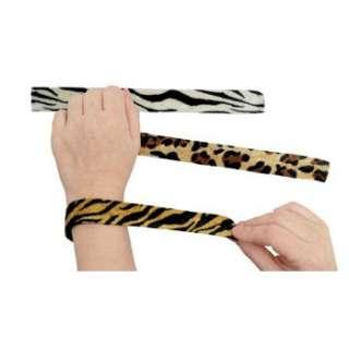 24 lot Jungle Safari Animal Print Slap Bracelets
