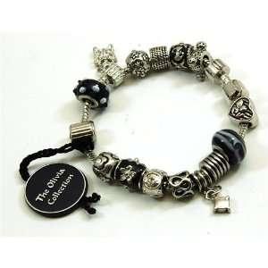 TOC BEADZ Branded Black & White Bead Bracelet Jewelry