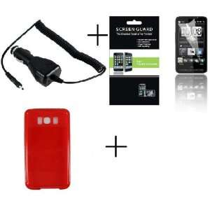 Case + Screen Protector + Car Charger for HTC Leo HD2