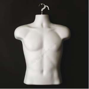 Male Torso Body Mannequin Form (Waist Long)   Great For