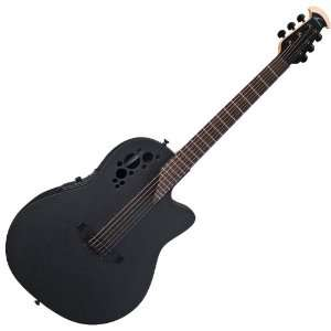 NEW OVATION ELITE TX 1778TX 5 BLACK MID DEPTH CUTAWAY
