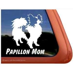 Papillon Mom Vinyl Window Dog Decal Sticker: Automotive