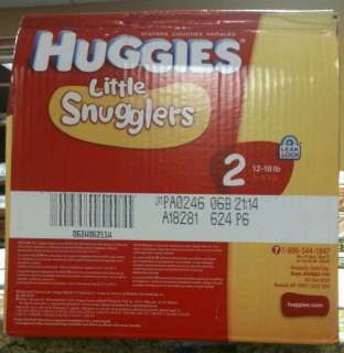 Huggies Little Snugglers Diapers, Size 2, 144 Count 036000113358