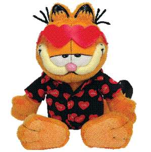 GARFIELD KISSES TY BEANIE BABY VALENTINES DAY RETIRED