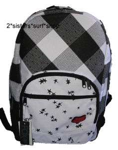 NEW FOX RACING Black/White Stars Backpack Bag Purse