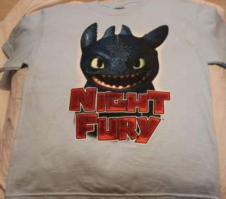 HOW TO TRAIN YOUR DRAGON NIGHT FURY BOYS SHIRT MED 8