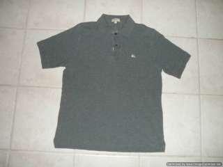 Burberry London Classic Fit Mens Polo Shirt MEDIUM Gray Short Sleeves