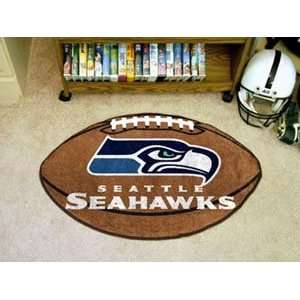 Seattle Seahawks Football Throw Rug (22 X 35):  Sports