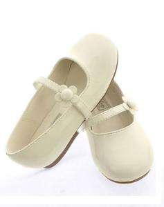 Toddler baby girls dress shoes wedding pageant white for Girls dress shoes for wedding