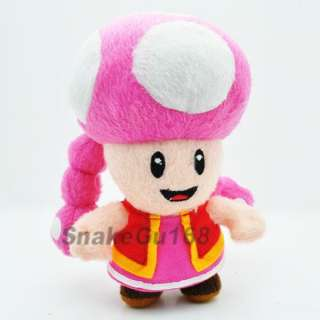 New Super Mario TOADETTE Doll Plush Toy+MY263
