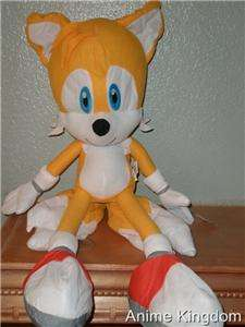 NWT NEW 20 SONIC THE HEDGEHOG TAILS PLUSH SUPER