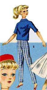 9993 Doll Clothes Pattern for Teen Age Barbie & Midge dolls 11 1/2