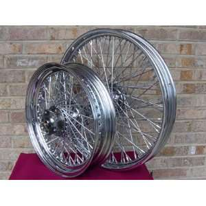 21X2.15 & 16X3 80 SPOKE CHOPPER FRONT & REAR WHEEL SET