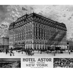 8 1/2 X 11 Photograph of the Hotel Astor on Times Square