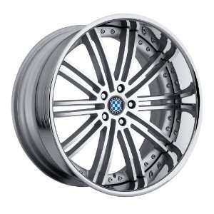19x10 Beyern Baroque (Silver w/ Chrome Lip) Wheels/Rims