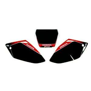 ONE IND NUMBER PLATE BACKGROUNDS  BLACK  Honda CRF 450 2005 2006   BGP