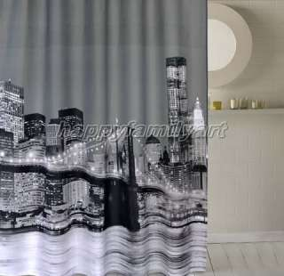 Night Scene Design Waterproof Bathroom Fabric Shower Curtain ys140