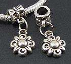 Tibetan Silver Sunflowers Dangles Charms Beads Fit European