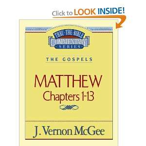 Matthew I (Thru the Bible) (9780785206378): Dr. J. Vernon