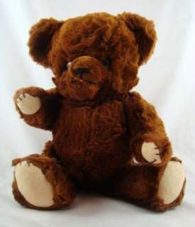 Brand Dark Brown Mohair Jointed Teddy Bear Large Ears Yarn Nose
