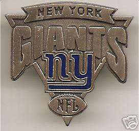 NEW YORK GIANTS ANTIQUE TRIANGLE LOGO COLLECTOR PIN