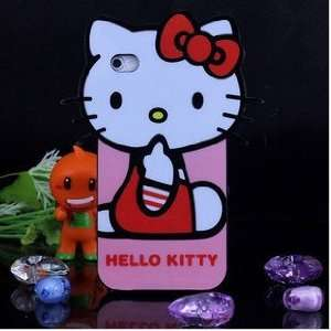 iPhone 4G Cute Hello Kitty with Red Shirt Style Series