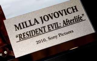 Resident Evil SURVIVOR Prop, UACC, COA, Signed MILLA JOVOVICH
