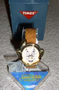 Disney Dopey Snow White And The Seven Dwarfs Timex Character leather