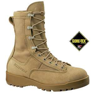 BELLEVILLE WOMENS GORE TEX COMBAT & FLIGHT BOOTS DESERT TAN USA MADE