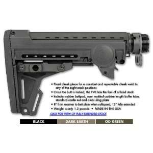 ERGO F93 PRO AR 15 Stock   8 position collapsible, Olive