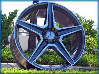 MB5 WHEELS RIMS GUNMETAL MACHINED FACE FITS MERCEDES BENZ GL