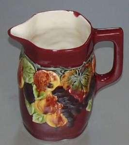 Antique Majolica Bern Pottery Czechoslovakia Pitcher
