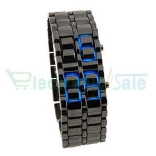 Blue LED Digital Watch Lava Style Mens Ladies Sports Fashion Wrist