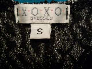 XOXO FORMAL DRESS SIZE S BLACK/SILVER FULL LENGTH PROM